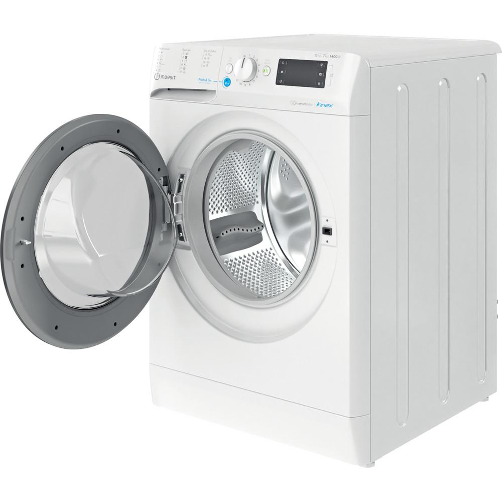 Indesit Kuivaava pesukone Vapaasti sijoitettava BDE 1071482X WK EU N Valkoinen Edestä täytettävä Perspective open