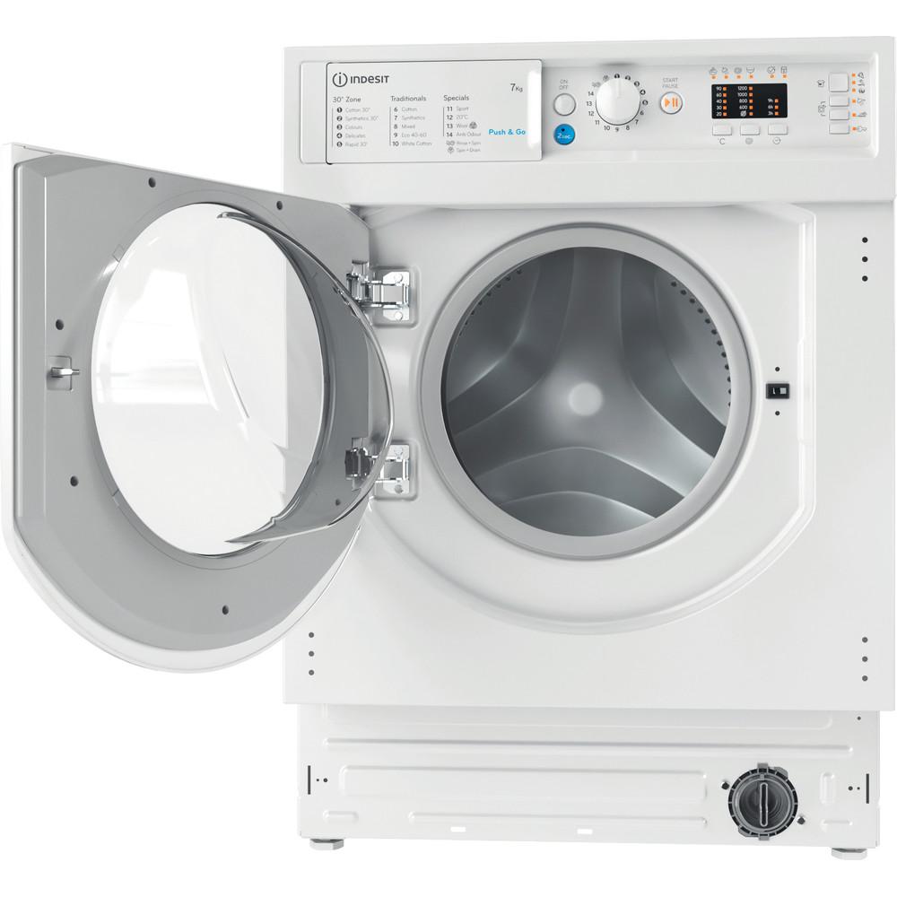 Indesit Washing machine Built-in BI WMIL 71252 UK N White Front loader E Frontal open