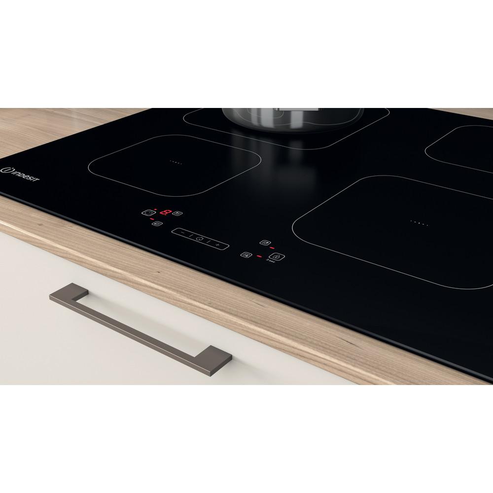Indesit Piano cottura IS 83Q60 NE Nero Induction vitroceramic Lifestyle control panel