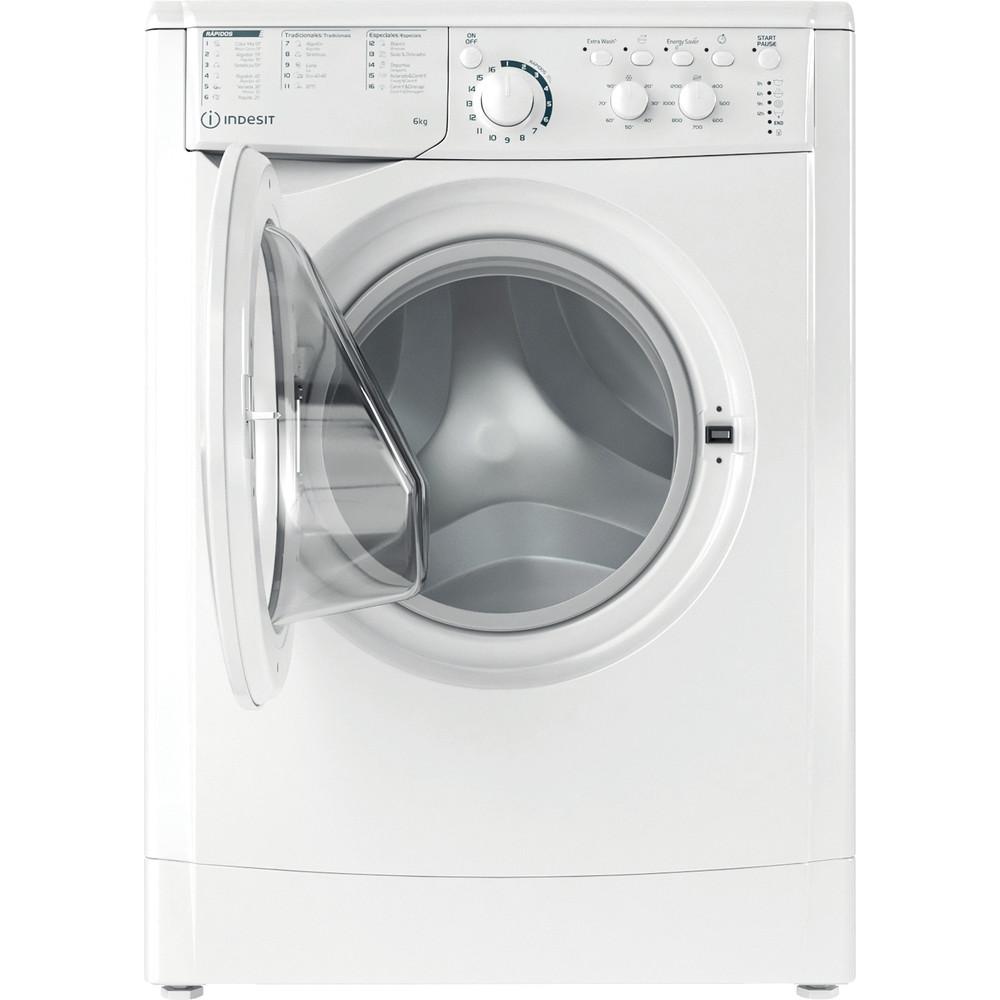 Indesit Máquina de lavar roupa Livre Instalação EWC 61251 W SPT N Branco Carga Frontal F Frontal open