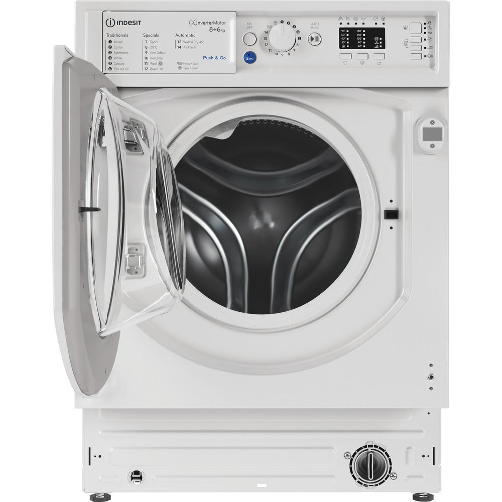 Indesit Washer dryer Built-in BI WDIL 861284 UK White Front loader Frontal open