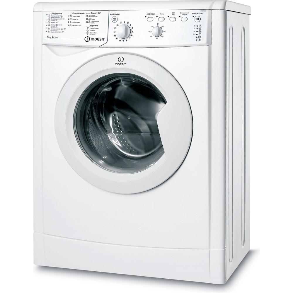 Indesit Стиральная машина Отдельностоящий IWSB 5085 (CIS) Белый Фронтальная загрузка A Perspective