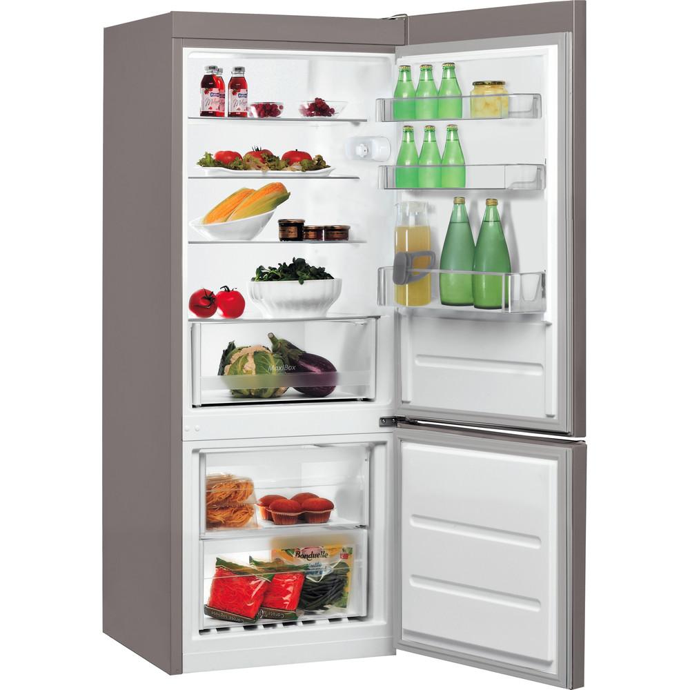 Indesit Kombinovaná chladnička s mrazničkou Volně stojící LR6 S2 X Nerez 2 doors Perspective open