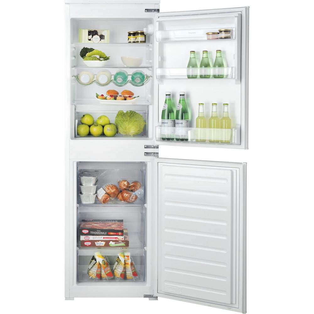 Hotpoint Fridge Freezer Built-in HMCB 505011 UK White 2 doors Frontal open
