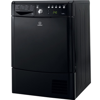 Indesit Dryer IDCE 8450 BK H (UK) Black Perspective