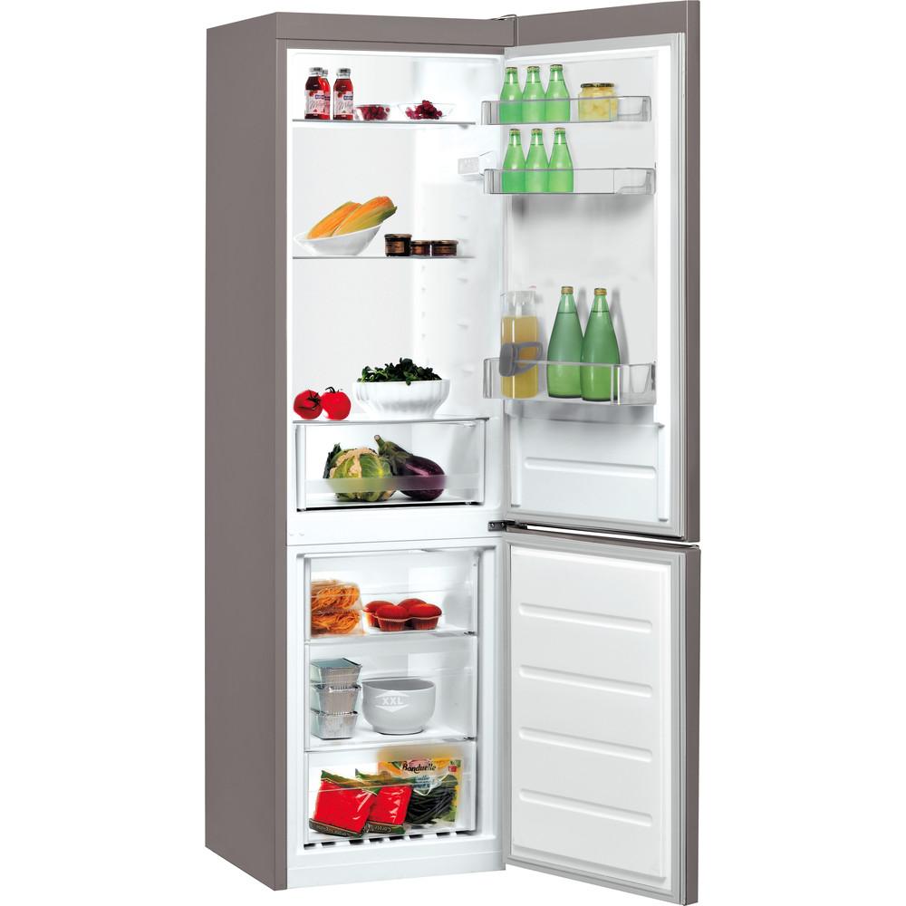 Indesit Холодильник з нижньою морозильною камерою. Соло LI7 S1 X Optic Inox 2 двері Perspective open