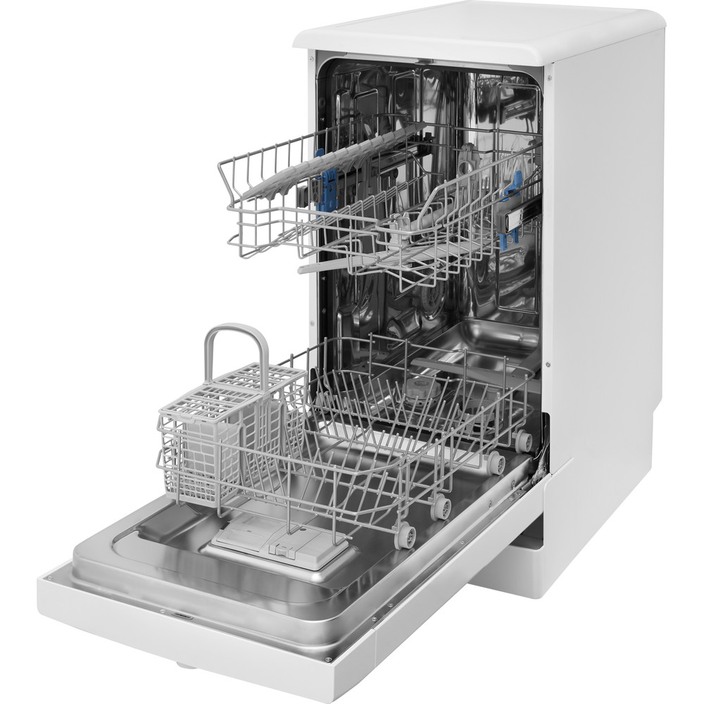 Indesit Dishwasher Free-standing DSFE 1B10 UK Free-standing F Perspective open