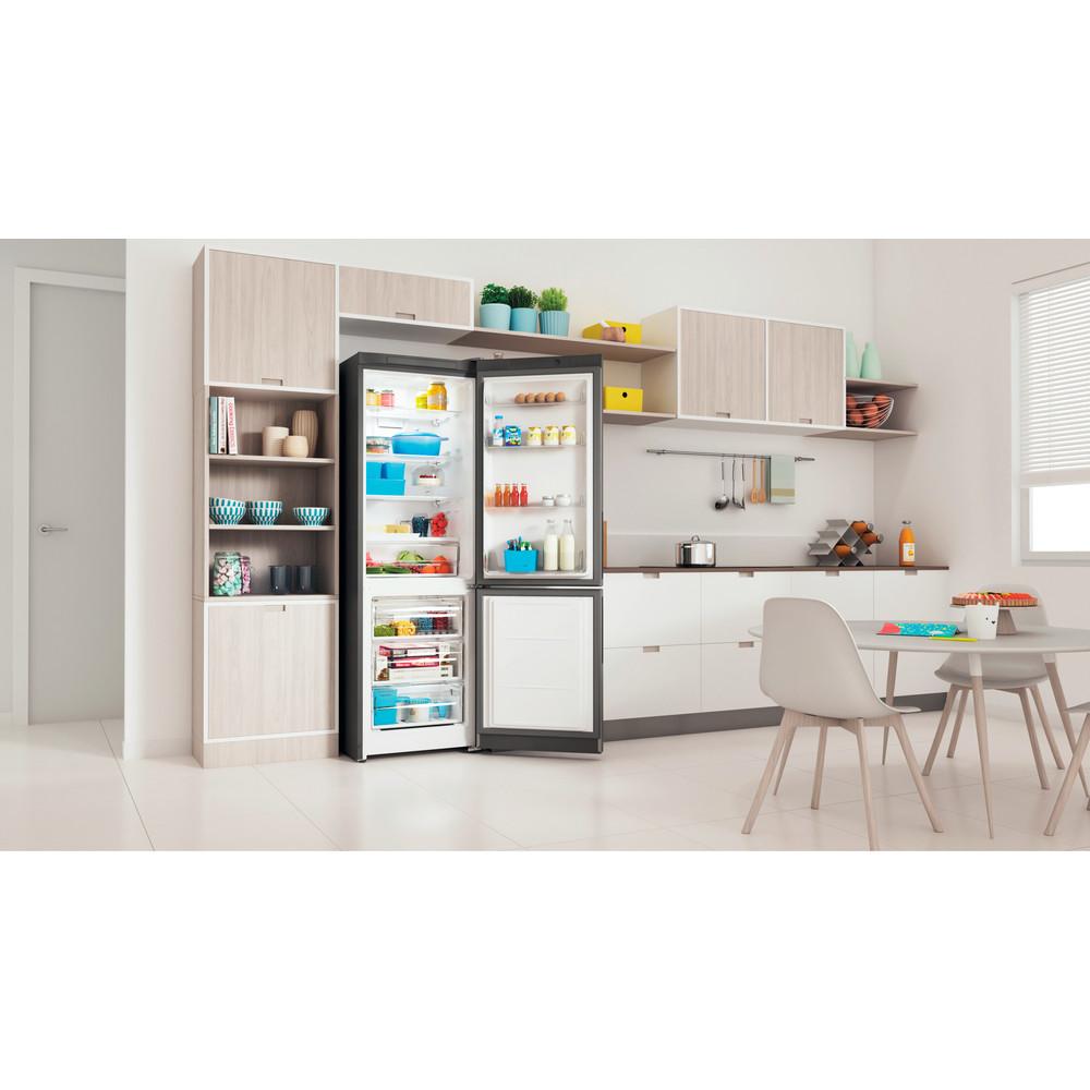 Indesit Холодильник с морозильной камерой Отдельностоящий ITR 5180 X Inox 2 doors Lifestyle perspective open