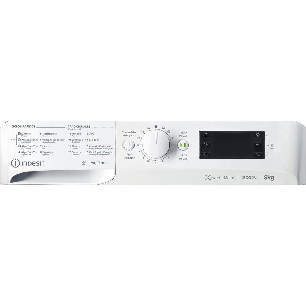 Indesit Lavadora Libre instalación MTWE 91283 W SPT Blanco Cargador frontal A +++ Control panel