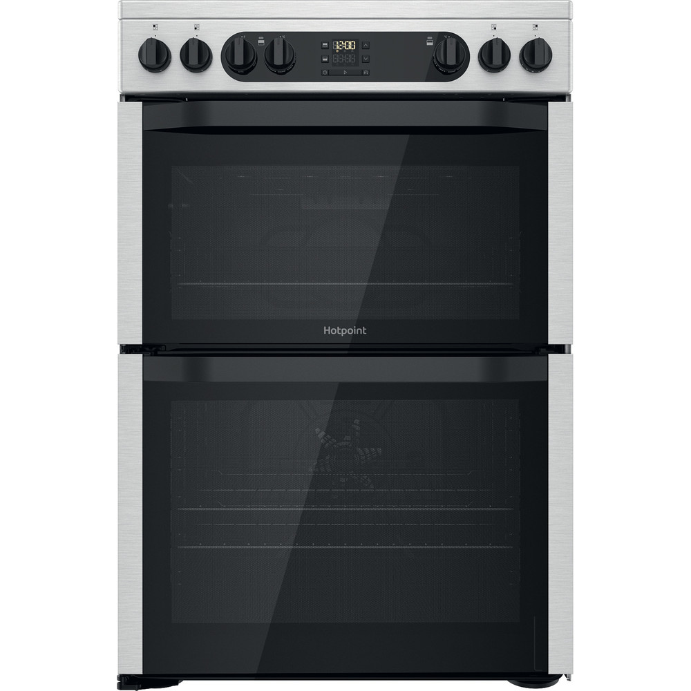 Hotpoint Double Cooker HDM67V9DCX/UK Inox A Frontal