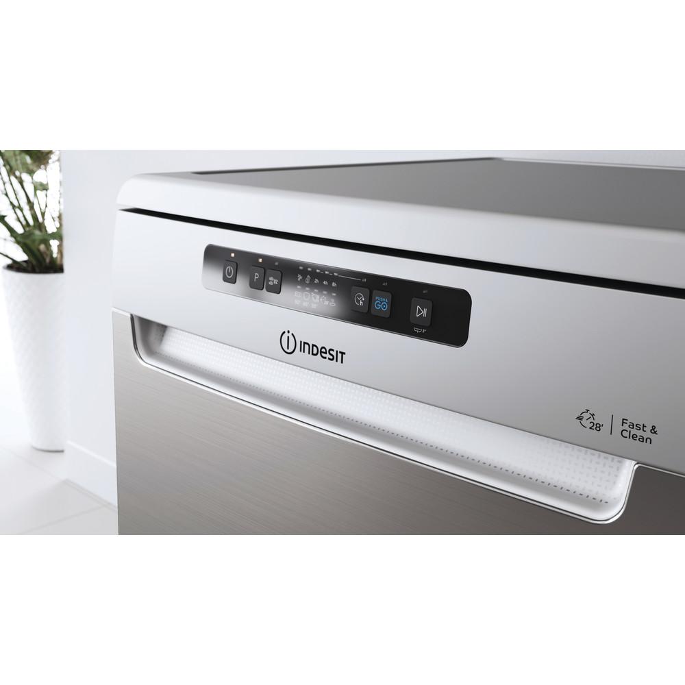 Indesit Mašina za pranje posuđa Samostojeći DFC 2B+19 AC X Samostojeći F Lifestyle control panel