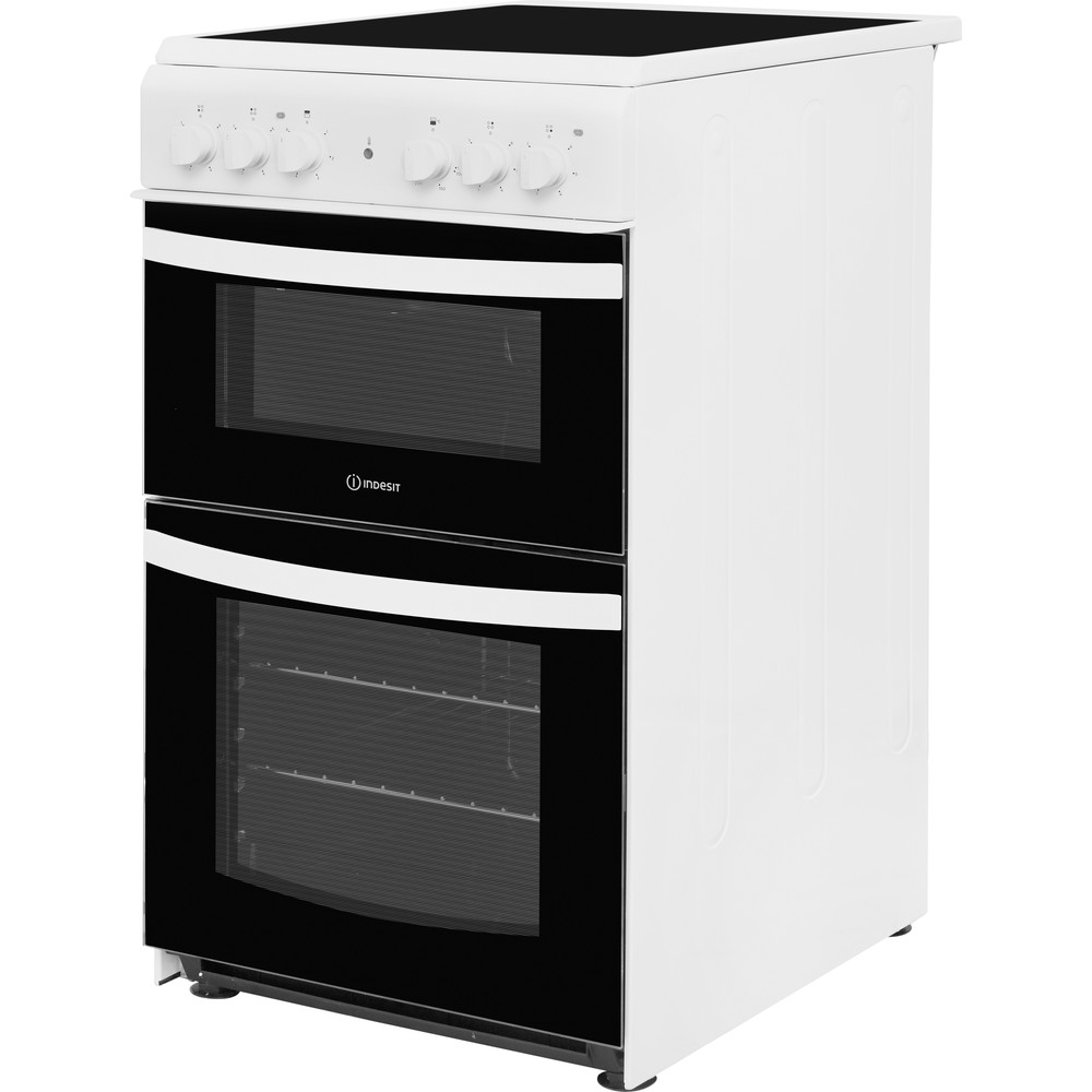 Indesit Double Cooker ID5V92KMW/UK White A Vitroceramic Perspective