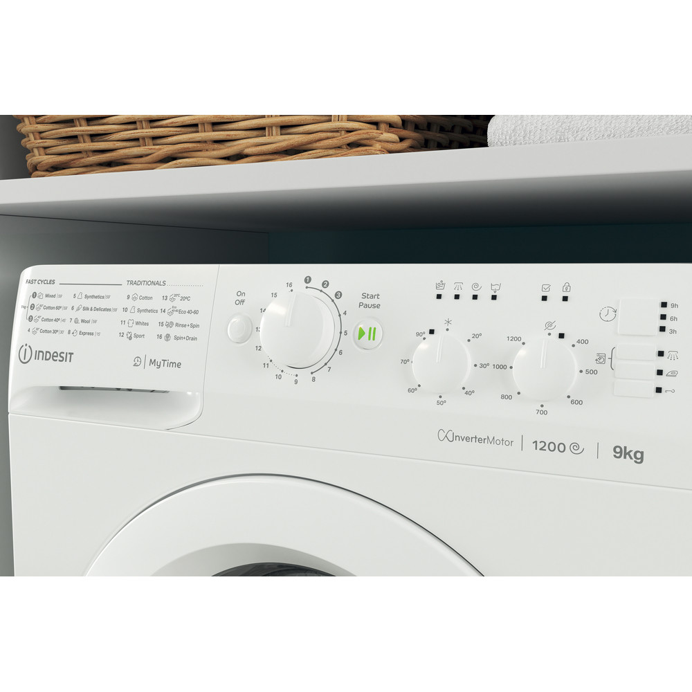 Indesit Washing machine Free-standing MTWC 91283 W UK White Front loader A+++ Lifestyle control panel