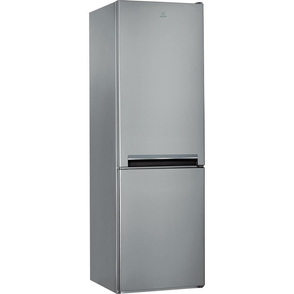 Indesit Комбиниран хладилник с камера Свободностоящи LI8 S2E X Инокс 2 врати Perspective