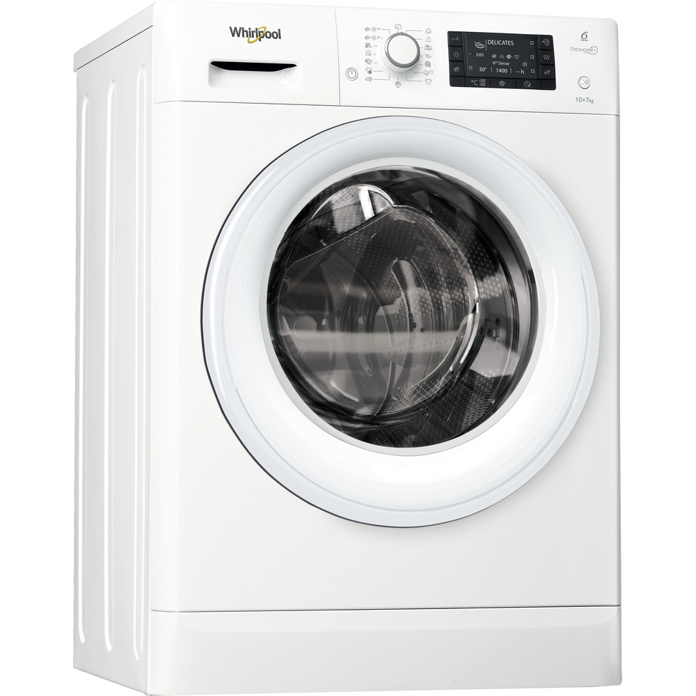 Whirlpool FWDD1071681W Washer Dryer 10+7kg 1600rpm - White