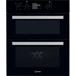 Indesit Double oven IDU 6340 BL Black B Frontal