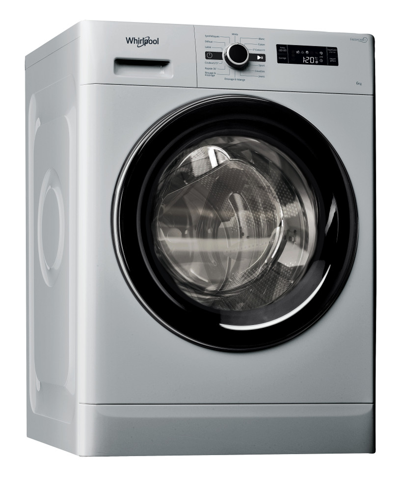 Whirlpool Lave-linge Pose-libre FWF61052SB MA Argent Front loader A++ Perspective