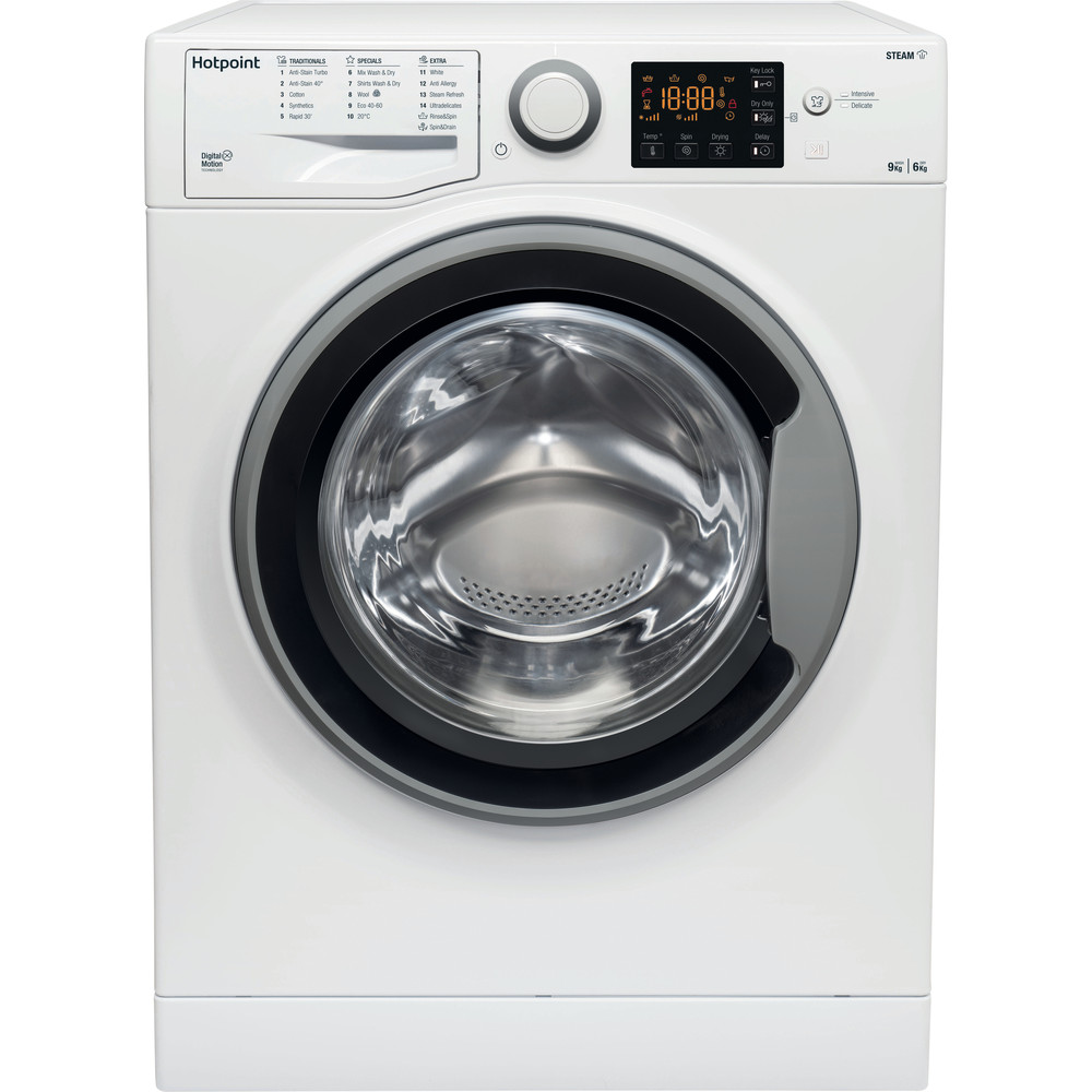 Hotpoint Washer dryer Free-standing RDGR 9662 WS UK N White Front loader Frontal