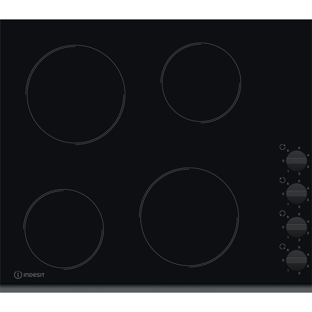 Indesit HOB RI 861 X Black Radiant vitroceramic Frontal