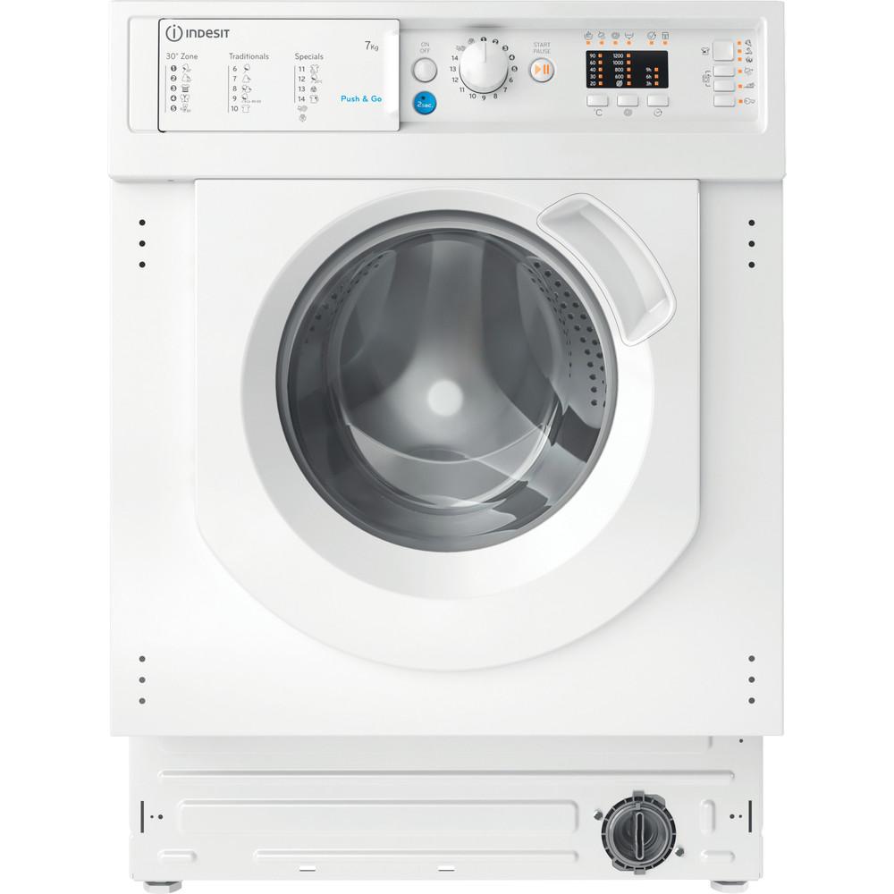 Indesit Перална машина Вграден BI WMIL 71252 EU N Бял Предно зареждане E Frontal