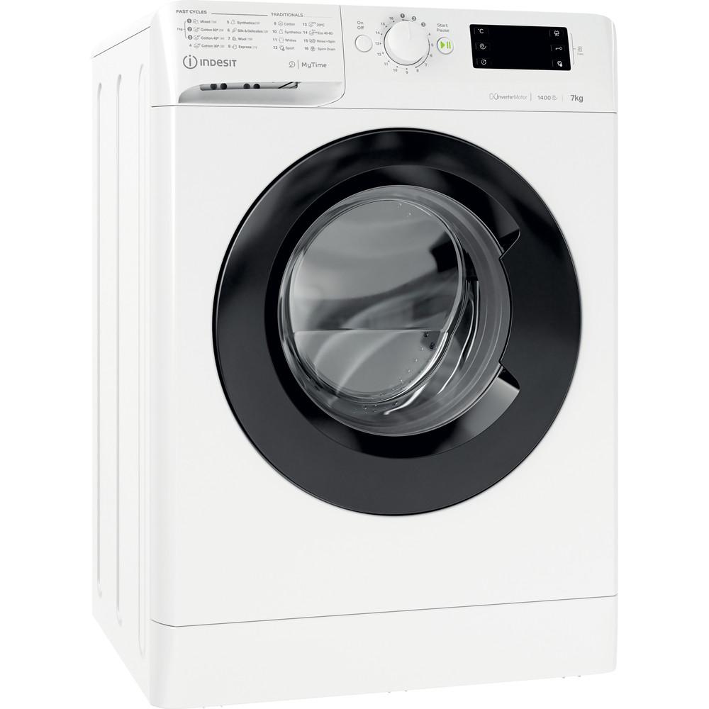 Indesit Wasmachine Vrijstaand MTWE 71483 WK EE Wit Voorlader A+++ Perspective