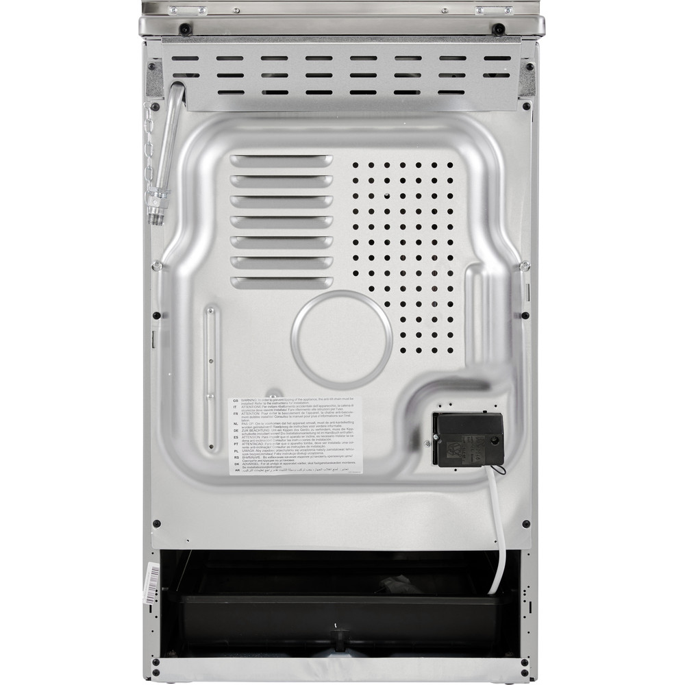 Indesit Fornuis IS5G5PHX/NL Rvs Gas Back / Lateral