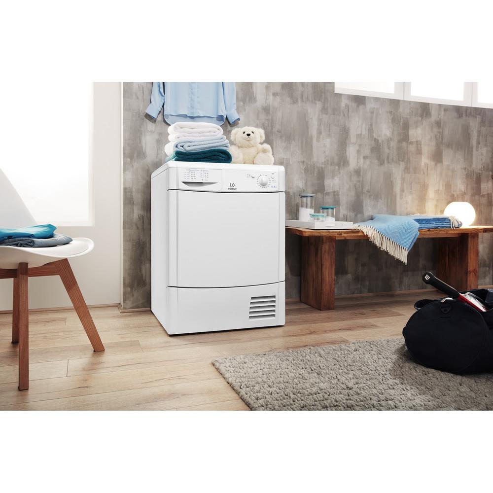 Indesit Dryer IDC 8T3 B (UK) White Lifestyle perspective
