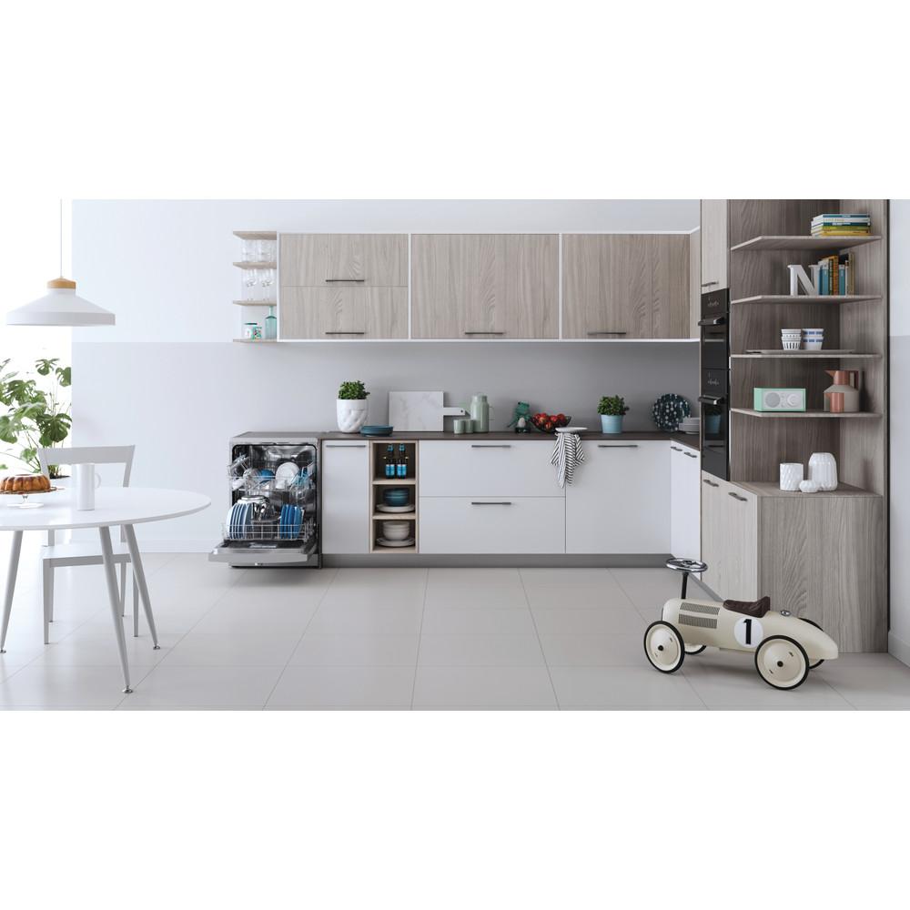 Indesit Dishwasher Free-standing DFE 1B19 X UK Free-standing F Lifestyle frontal open