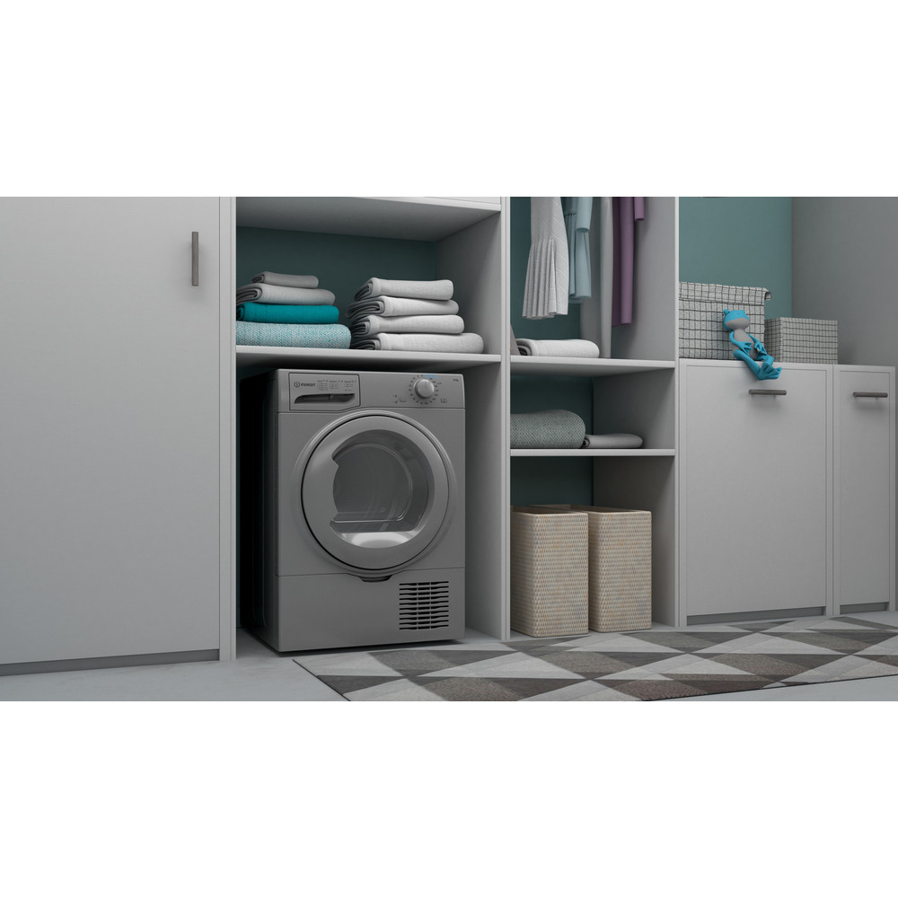 Indesit Dryer I2 D81S UK Silver Lifestyle perspective