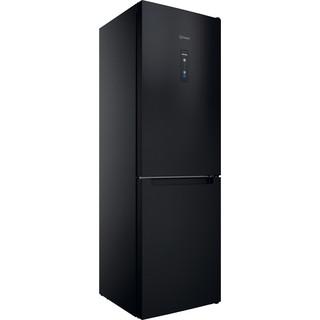 Indesit Réfrigérateur combiné Pose-libre INFC8 TO22K Noir 2 portes Perspective