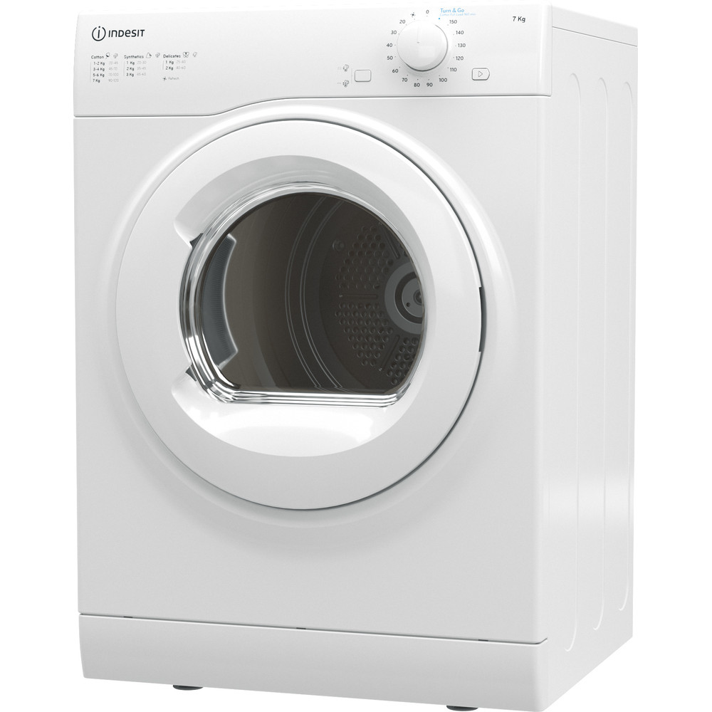 Indesit Dryer I1 D71W UK White Perspective