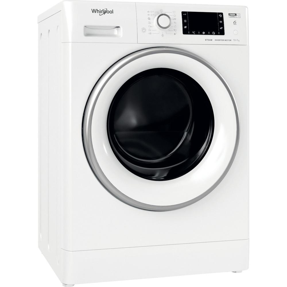 Whirlpool fristående tvätt-tork: 10,0 kg - FWDD 1071682 WSV EU N