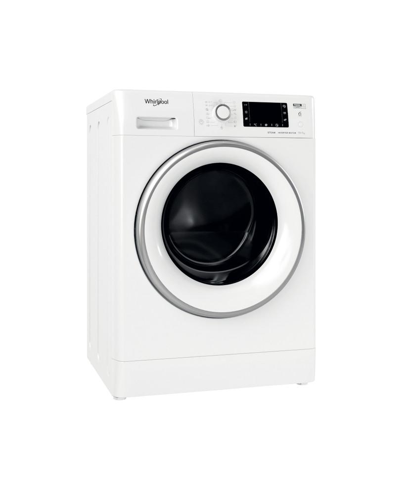 Whirlpool Пералня със сушилня Свободностоящи FWDD 1071682 WSV EU N Бял Предно зареждане Perspective