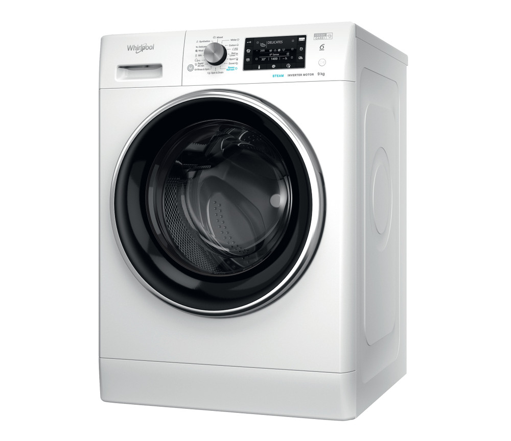 Whirlpool Washing machine Samostojni FFD 9448 BCV EE Bela Front loader A+++ Perspective