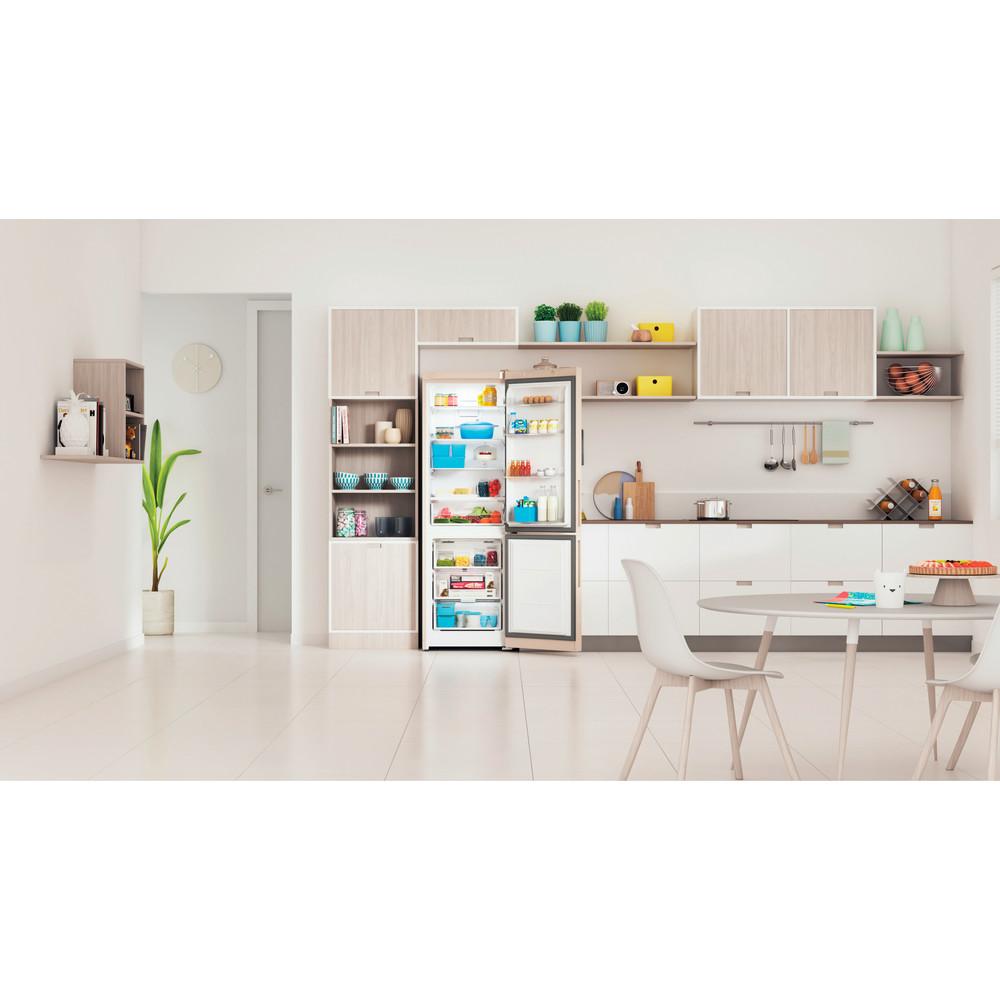 Indesit Холодильник с морозильной камерой Отдельностоящий ITR 5180 E Розово-белый 2 doors Lifestyle frontal open