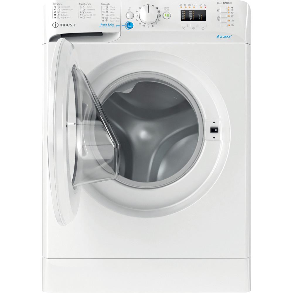 Indesit Перална машина Свободностоящи BWSA 71251 W EE N Бял Предно зареждане E Frontal open