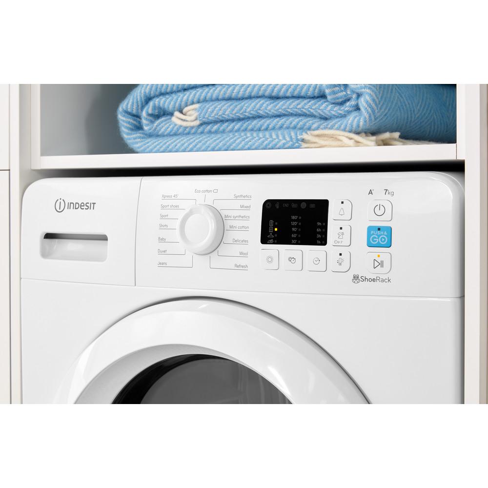 Indesit Dryer YT M10 71 R UK White Lifestyle control panel