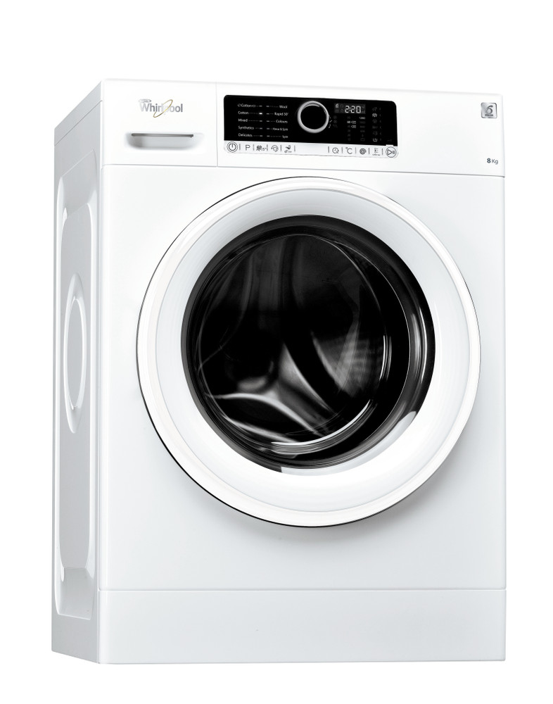 Whirlpool Washing machine Free-standing FSCR80213 White Front loader A+++ Perspective
