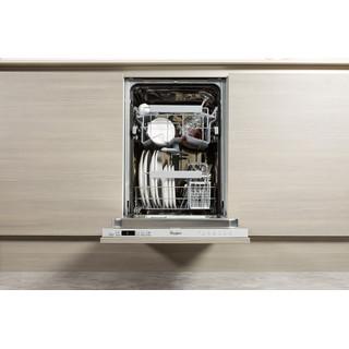 Посудомийна машина Whirlpool інтегрована: сріблястий колір, вузька - ADG 321