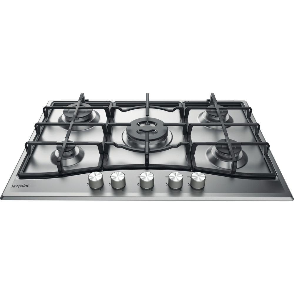 Hotpoint HOB PCN 751 T/IX/H Inox GAS Frontal_Top_Down