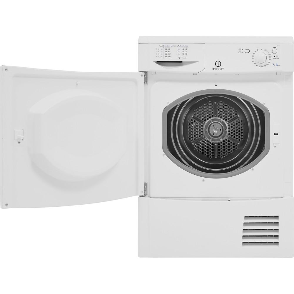 Indesit Dryer IDC 75 B (UK) White Frontal open