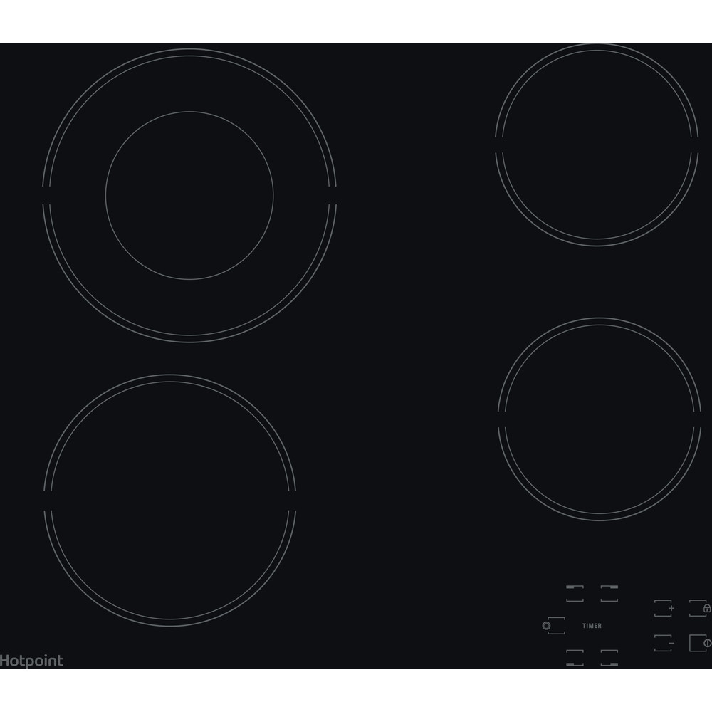 Hotpoint HOB HR 612 C H Black Radiant vitroceramic Frontal