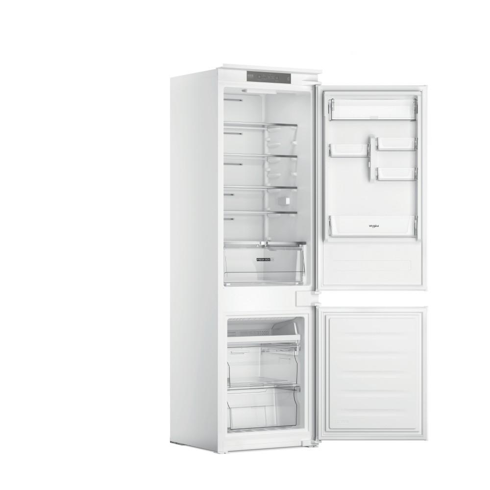 Whirlpool Jääkaappipakastin Kalusteisiin sijoitettava WHC18 T311 Valkoinen 2 doors Perspective open