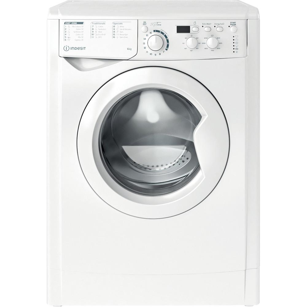 Indesit Washing machine Free-standing EWSD 61251 W UK N White Front loader F Frontal