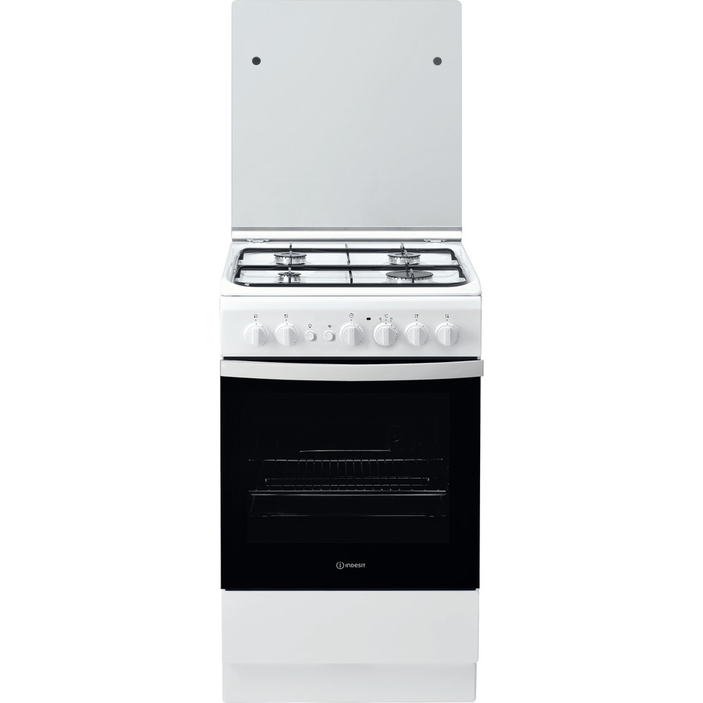 Indesit Cuisinière IS5G2PCW/FR Blanc GAS Frontal