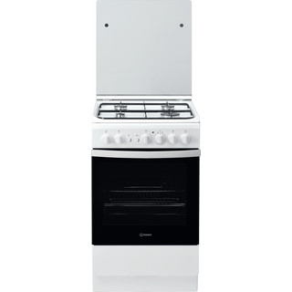 Indesit Cuisinière IS5G2PCW/FR Blanc GAS Frontal