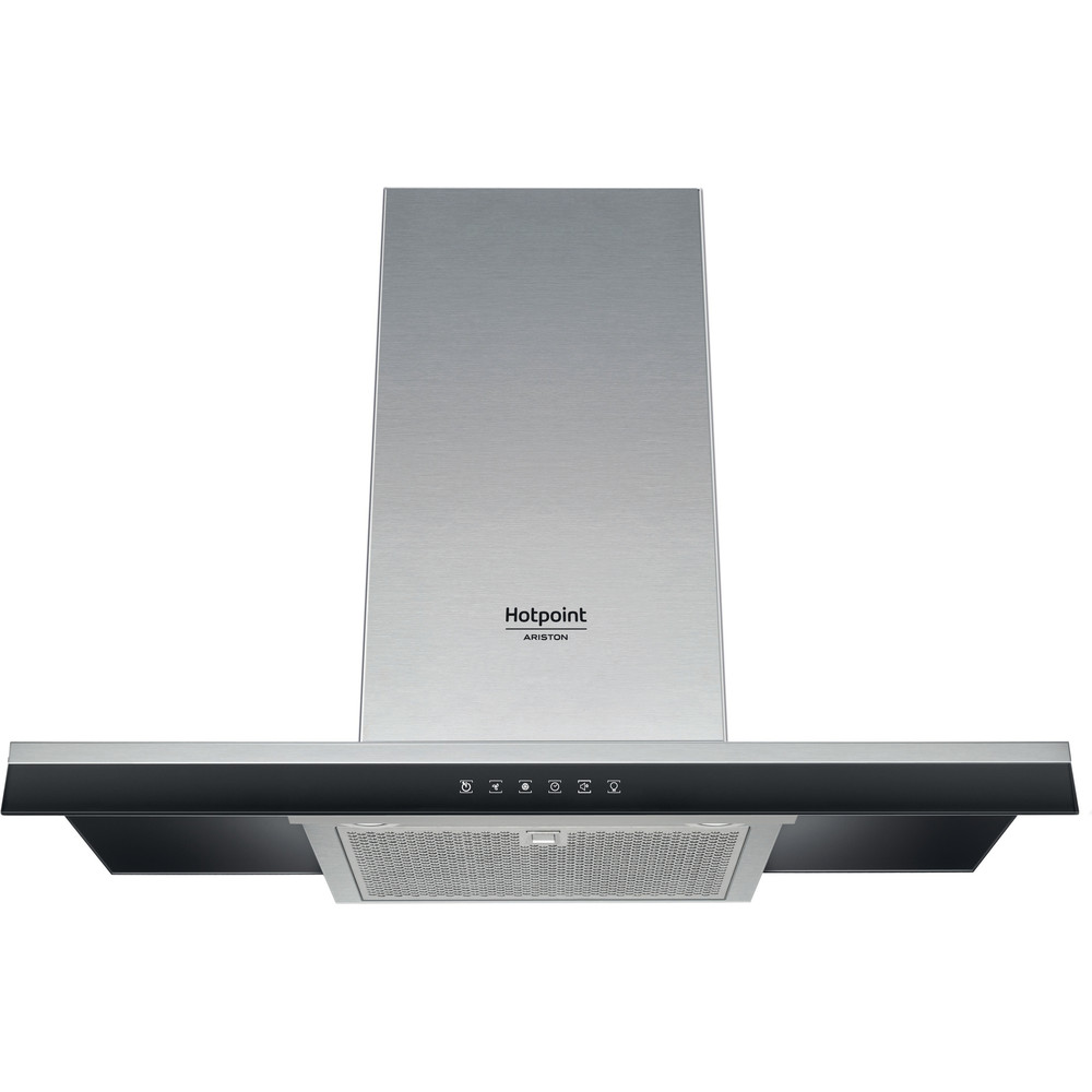 Hotpoint_Ariston Hotte Encastrable HHBG 9.8 LTSI X Inox Mural Electronique Frontal