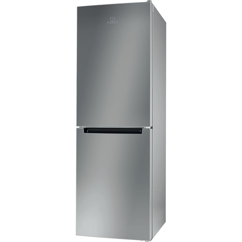 Indesit Hűtő/fagyasztó kombináció Szabadonálló LI7 S2E S Ezüst 2 doors Perspective