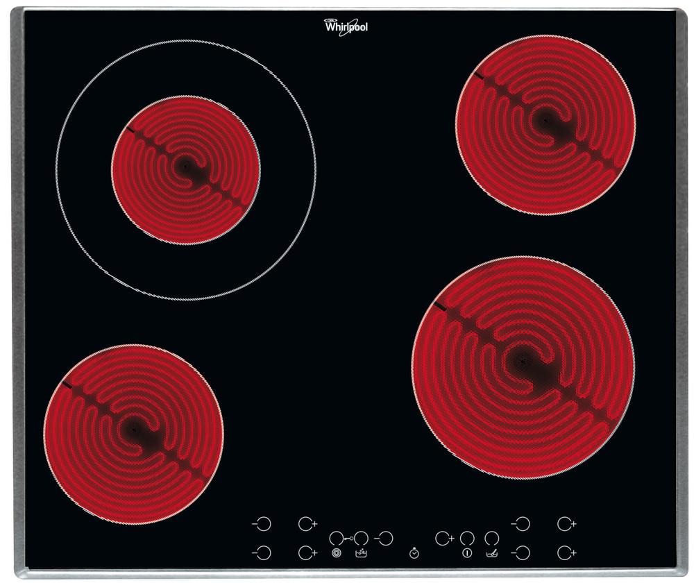 Whirlpool HOB AKT 8600/IX Crna Radiant vitroceramic Frontal
