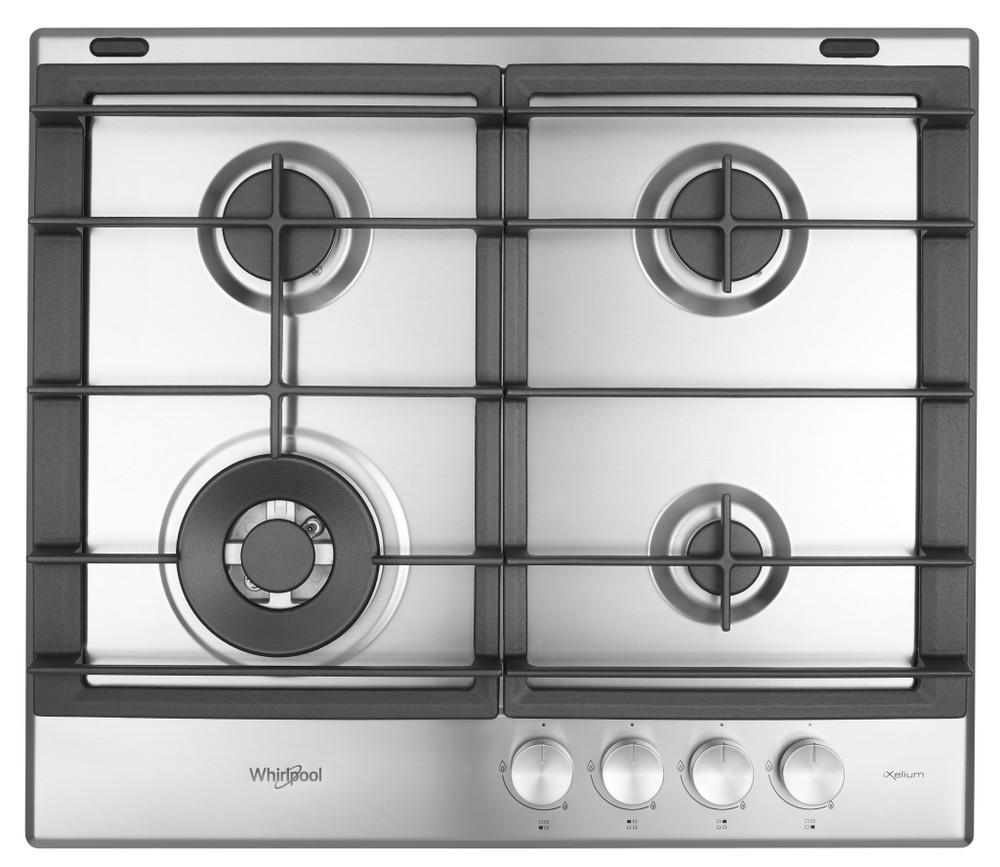Whirlpool Table de cuisson GMW 6422/IXL Inox Gaz Frontal